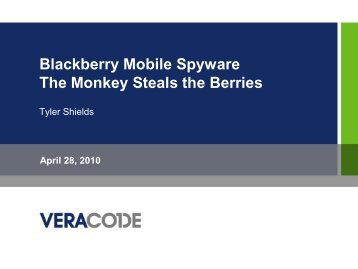 Blackberry Mobile Spyware - The Monkey Steals the Berries