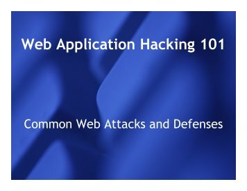 Web Application Hacking 101 - Donkeyonawaffle.org