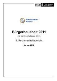 1. Rechenschaftsbericht - Bürgerhaushalt