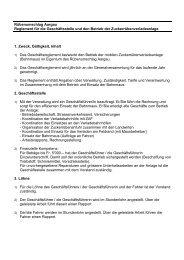 Rübenumschlag Aargau Reglement für die Geschäftsstelle und den ...