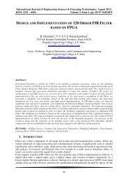 design and implementation of 120 order fir filter based ... - Ijeset.com