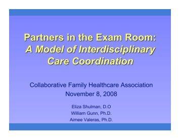 Collaborative Family Healthcare Association November 8, 2008