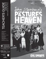 John Steinbeck's The Pastures of Heaven Teacher's Guide