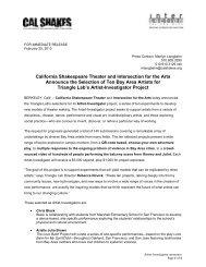 Triangle Lab Artist-Investigator Selections Announced - California ...