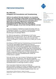 Die VEKA AG - erfolgreich mit Innovation und Verantwortung