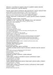Informace o nové Rámcové pojistné smlouvě na pojištění majetku ...