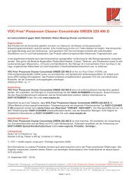 Voc-Free* Pressroom Cleaner Concentrate GREEN 220 400 Zi