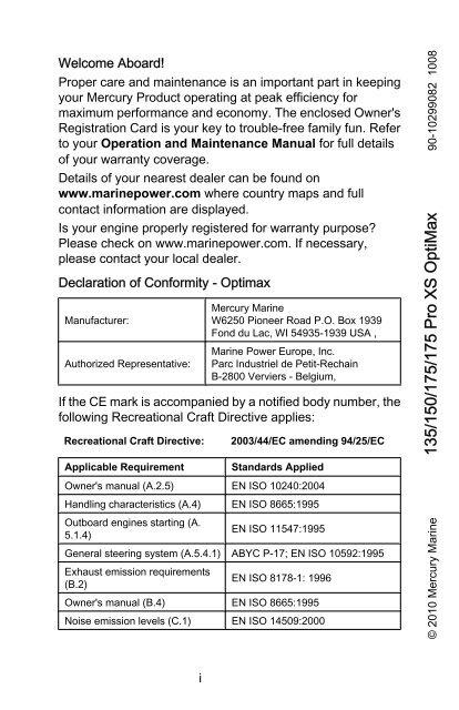135/150/175/175 Pro XS OptiMax - Brunswick Marine in EMEA