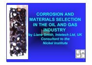 corrosion and materials selection in the oil and gas industry