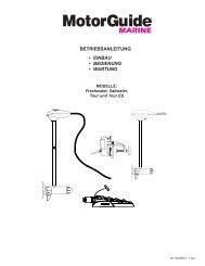 betriebsanleitung • einbau • bedienung • wartung - Brunswick ...