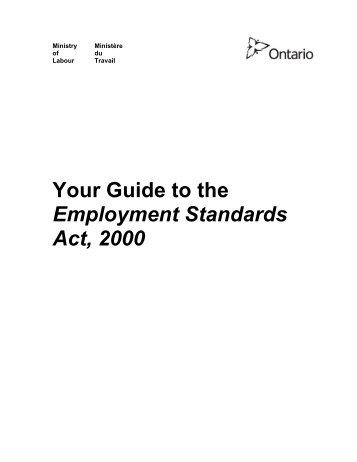 employment standards review key ideas for consideration
