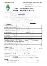 Internet szerződes (Hatályos 2009. 07. 01. napjától) - Bóly