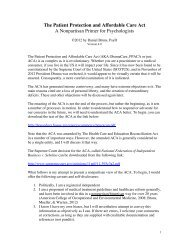 The Patient Protection and Affordable Care Act - Health Psychology ...