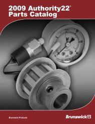 2009 Authority22® Parts Catalog - Brunswick