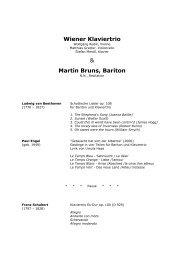 Wiener Klaviertrio & Martin Bruns, Bariton