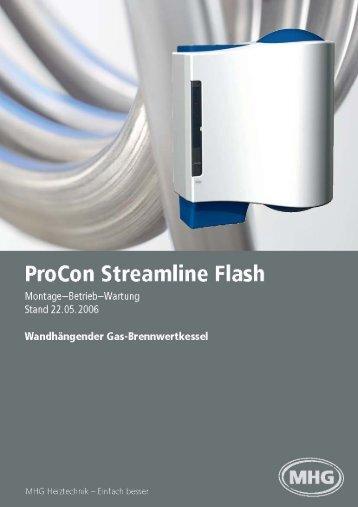 Montage- und Bedienungsanleitung ProCon Streamline Flash