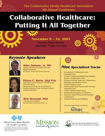 CFHA-2007-brochure - Collaborative Family Healthcare Association