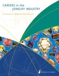 CAREERS in the JEWELRY INDUSTRY - Jewelers of America
