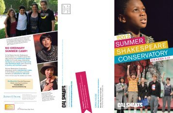 SUMMER SHAKESPEARE CONSERVATORY - California ...