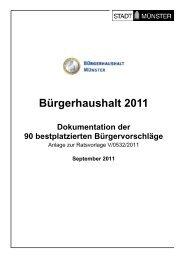Bürgerhaushalt 2011 - Dokumentation der 90 bestplatzierten ...