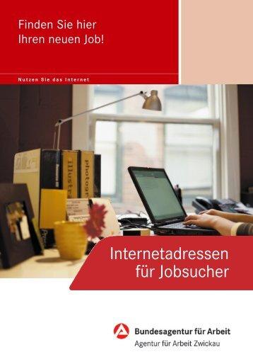 Internetadressen für Jobsucher - Bundesagentur für Arbeit