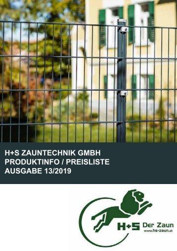 """H+S """"Der Zaun"""" 2017"""