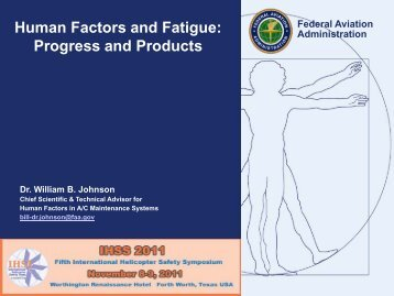 Human Factors and Fatigue: Progress and Products - IHST