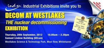 DECOM AT WESTLAKES DECOM AT WESTLAKES - Sellafield Ltd