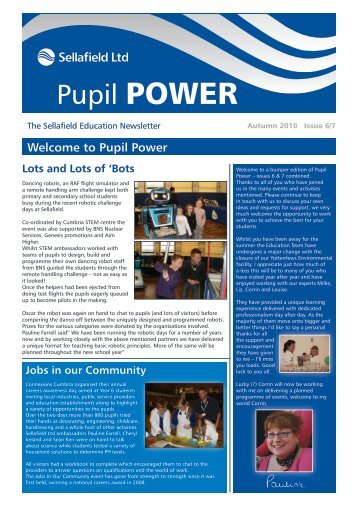 Pupil POWER - Sellafield Ltd