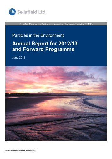 Particles in the Environment - Annual Report 2012-13 - Sustainability