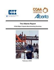 The Alberta Report - COAA Major Projects Benchmarking Summary