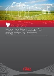 Your turkey coop for long-term success - PAL Bullermann