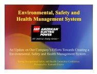 Safety & Health Management Systems - Esafetyline.com