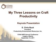 Keynote Presentation (Dinner) - Construction Owners Association of ...