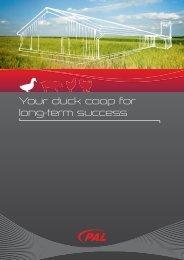 Your duck coop for long-term success - PAL Bullermann