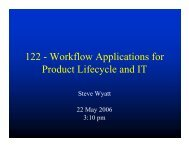 122 - Workflow Applications for Product Lifecycle and IT - PIMA