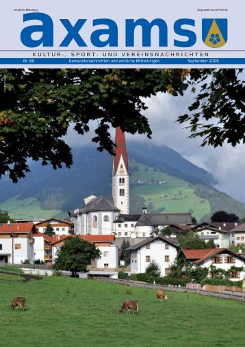 3,75 MB - Gemeinde Axams - Land Tirol