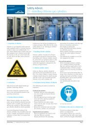 Safety Advice. 22 – Handling chlorine gas cylinders.