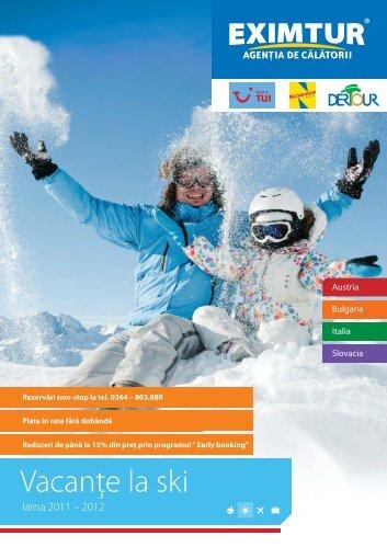 VacanÈ›e la ski - Eximtur