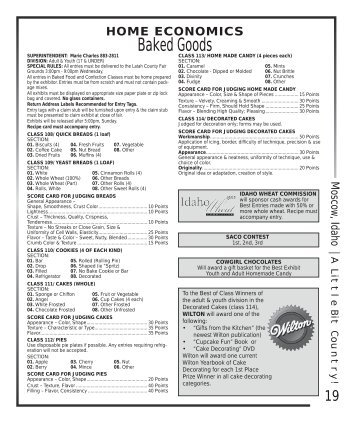 Baked Goods - Latah County