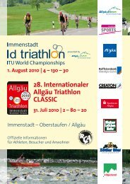 28. Internationaler Allgäu Triathlon CLASSIC
