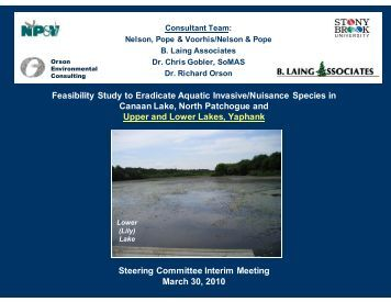 Feasibility Study to Eradicate Aquatic Invasive/Nuisance Species in ...