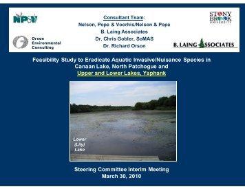 Feasibility Study to Eradicate Aquatic Invasive/Nuisance Species in ...