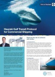 Hauraki Gulf Transit Protocol document - Ports of Auckland