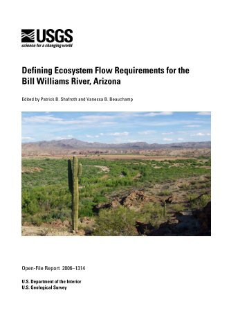Defining Ecosystem Flow Requirements for the Bill Williams River ...