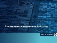 Environmental Awareness Induction Presentation - Ports of Auckland