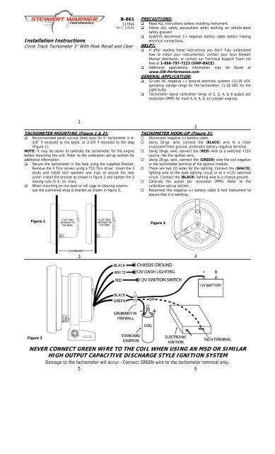 Sw Tachometer Wiring Diagram