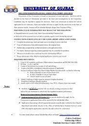 fee concession form 2012-2013 - News - University of Gujrat