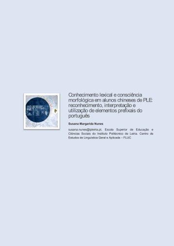 Conhecimento lexical e consciência morfológica em ... - Exedra