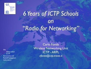lecture notes (pdf, 12.5MB) - Wireless@ICTP